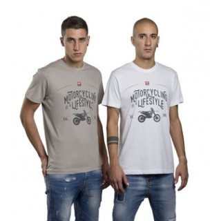 T-SHIRTS GRIS MOTORCYCLING IS A LIFESTYLE