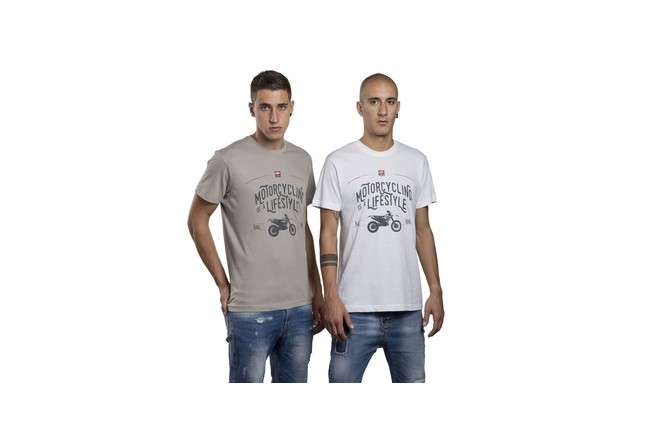 T-SHIRTS MOTORCYCLING IS A LIFESTYLE GRIS S