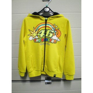 SWEAT ZIP KID VR 46 YELLOW T-8/9