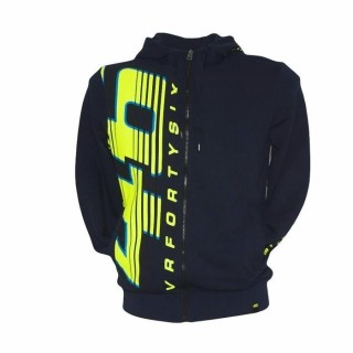 SWEAT ZIP VR 46 BLEU