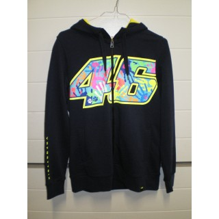 SWEAT ZIP VR 46 WOM BLUE  T-L